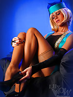 Leggy horny Milf Lily in wonderful classics of 40s