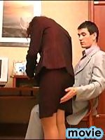Salacious secretary in silky pantyhose knows the best way of lunch break