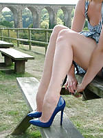 Horny Carrie has some nice fun gone away from while wearing her high heels