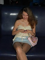 pantyhose panties up skirt foto